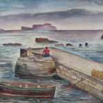An der Mole von Sant' Angelo, 1935, Aquarell, 72 x 51 cm