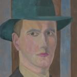 Selbstbildnis, 1922, Öl auf Malpappe, 27 x 34 cm