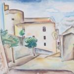 Ortschaft auf Korsika, 1929, Aquarell, 23 x 31 cm
