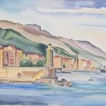 Bastia - Korsika, 1929, Aquarell, 63 x 48 cm