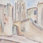 Calvi, 1929, Aquarell, 50 x 65 cm
