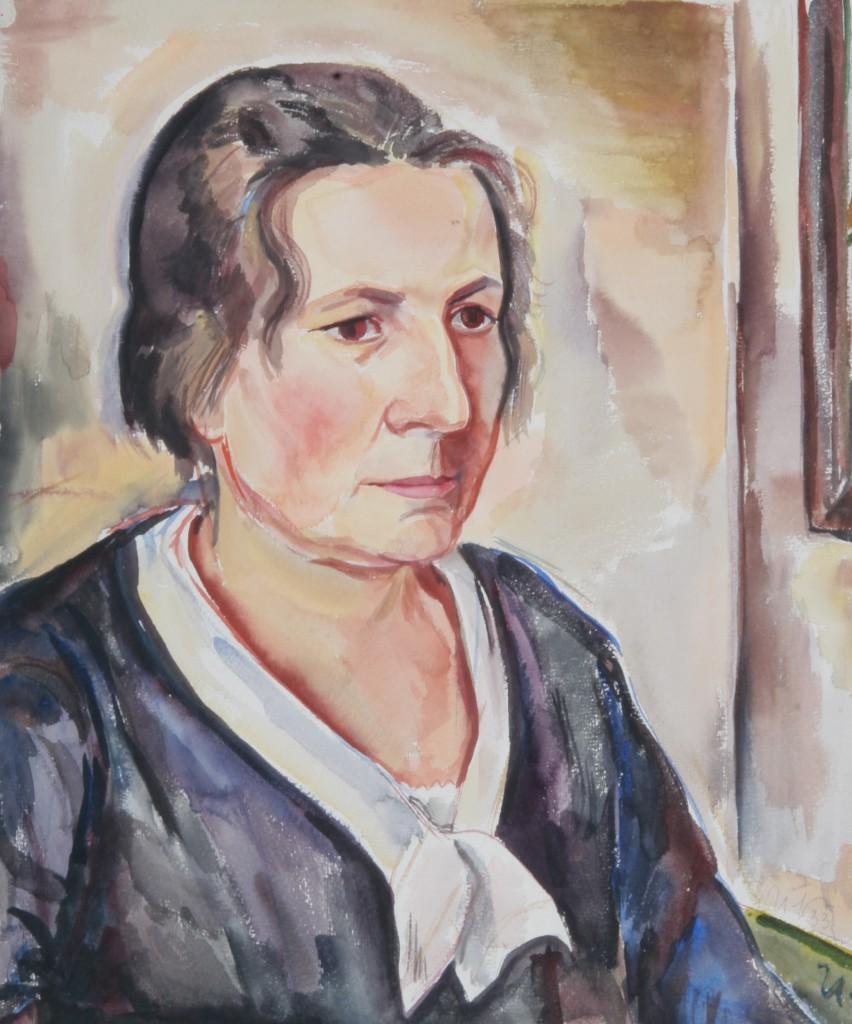 Italienische Signora, 1933, Aquarell, 45 x 54 cm