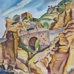 Brücke auf Ischia/ Sant' Angelo, 1939, Aquarell, 48 x 66 cm