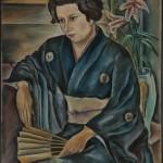 Johanna in Japan, 1927, Öl auf Leinen, 60 x 83 cm