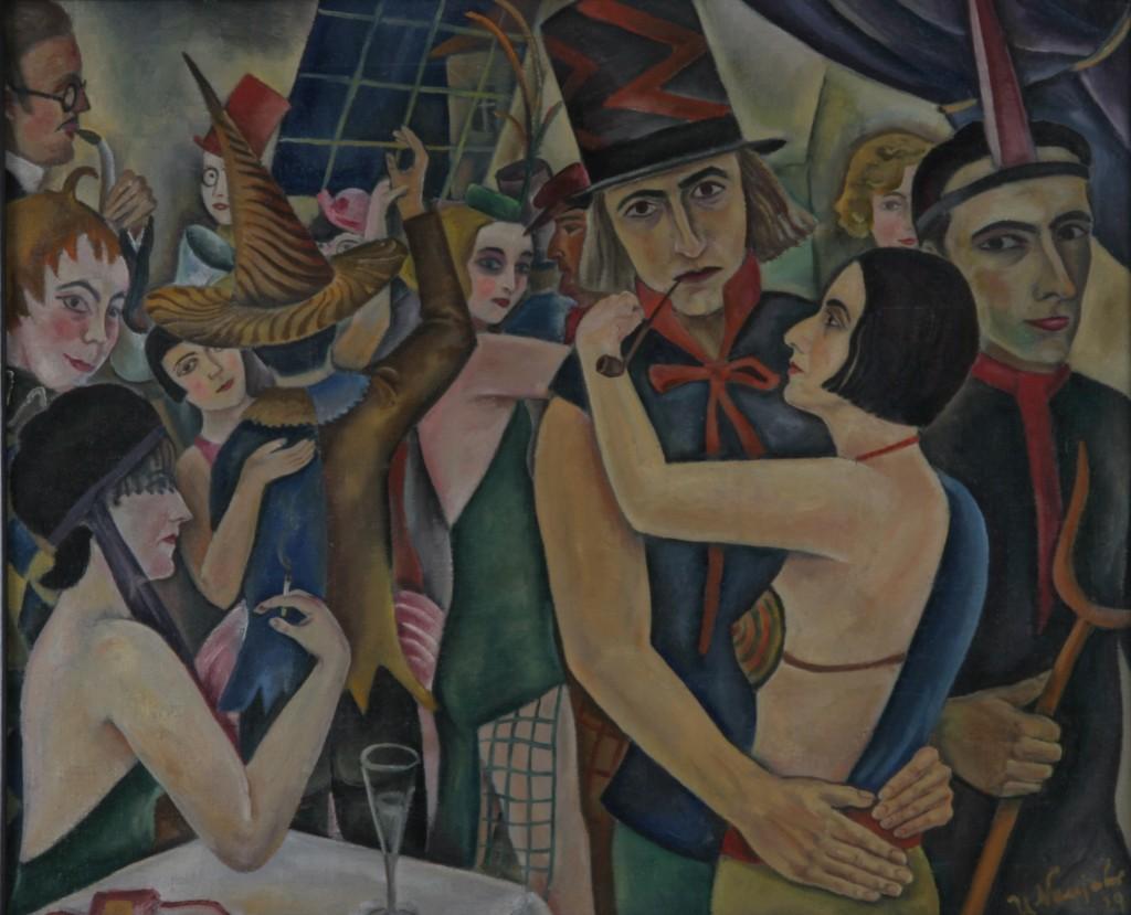 Akademieball, 1929, Öl auf Leinwand, 64 x 49 cm