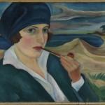 Freundin an der Kurischen Nehrung, 1924, Öl auf Malpappe, 45 x 54,5 cm