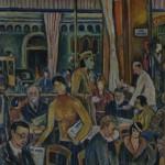 Romanisches Café, 1932, Öl auf Karton, 44 x 59,5 cm