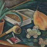 Stilleben mit Pfeife, 1934, Öl auf Leinen, 39 x 28 cm