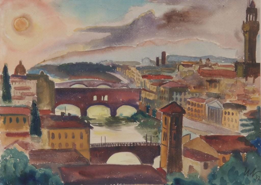 Florenz, 1937, Aquarell, 66 x 48,5 cm