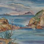 Sant' Angelo und Capri, 1936, Aquarell, 67 x 49 cm