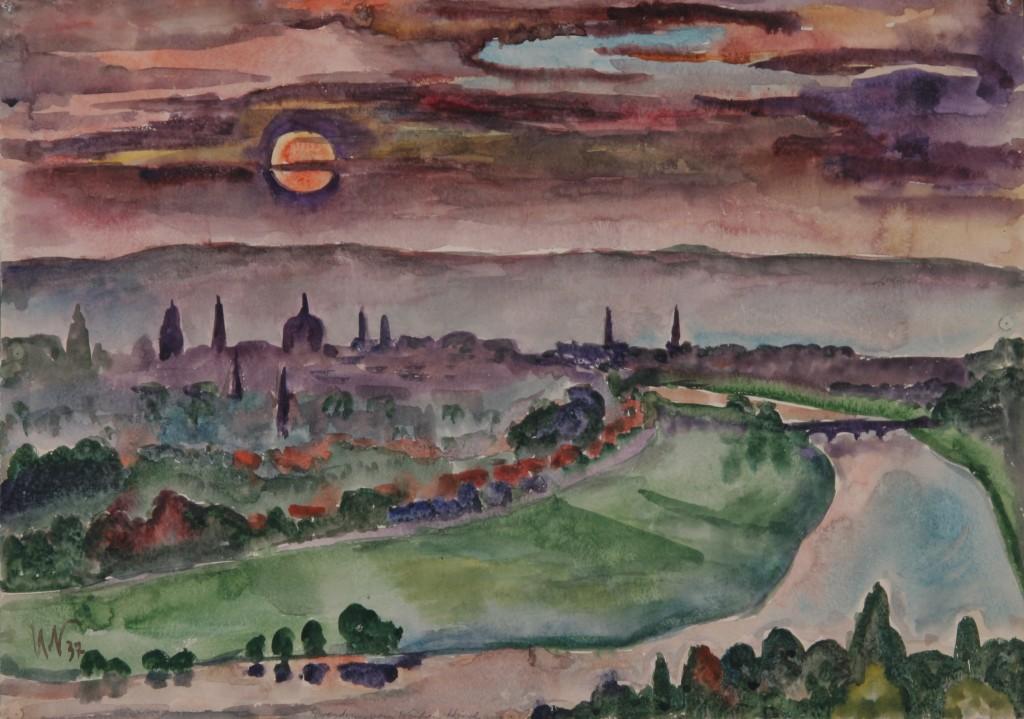 Dresden, 1937, Aquarell, 50 x 70 cm