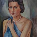 Meine Charlotte, 1939, Aquarell, 49 x 66 cm