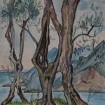 Oliven am Gardasee, 1939, Aquarell, 50 x 70 cm